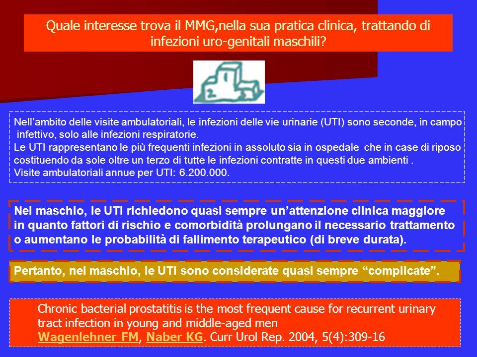 Quale interesse trova il MMG,nella sua pratica clinica, trattando di infezioni uro-genitali maschili