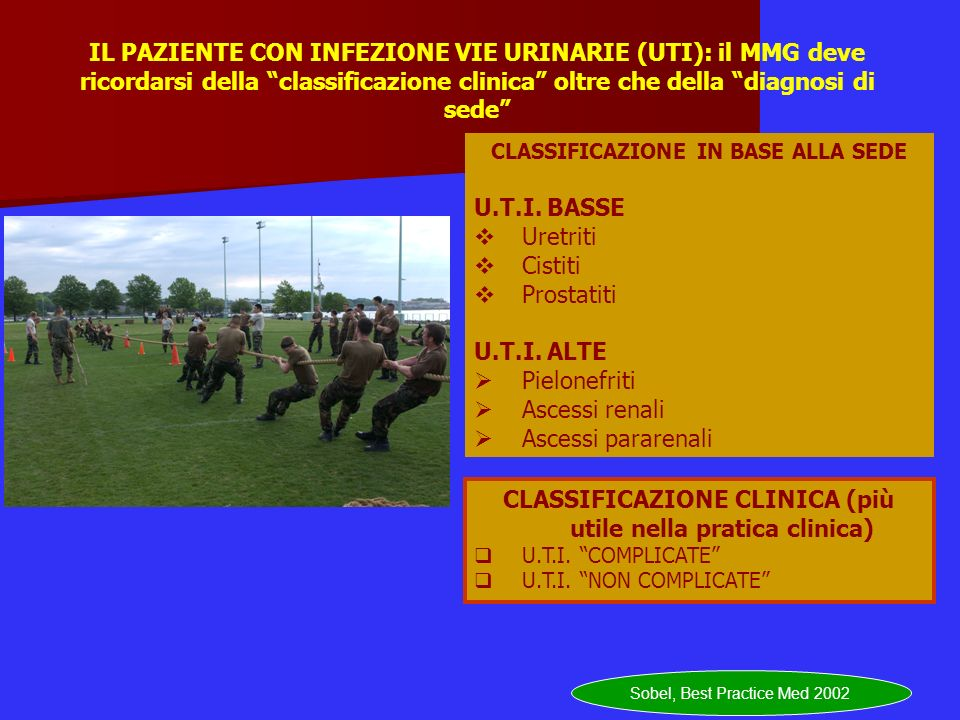 CLASSIFICAZIONE CLINICA (più utile nella pratica clinica)