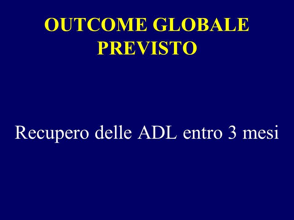 OUTCOME GLOBALE PREVISTO