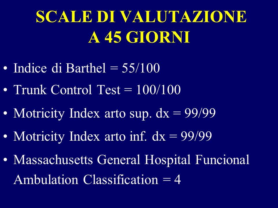 SCALE DI VALUTAZIONE A 45 GIORNI