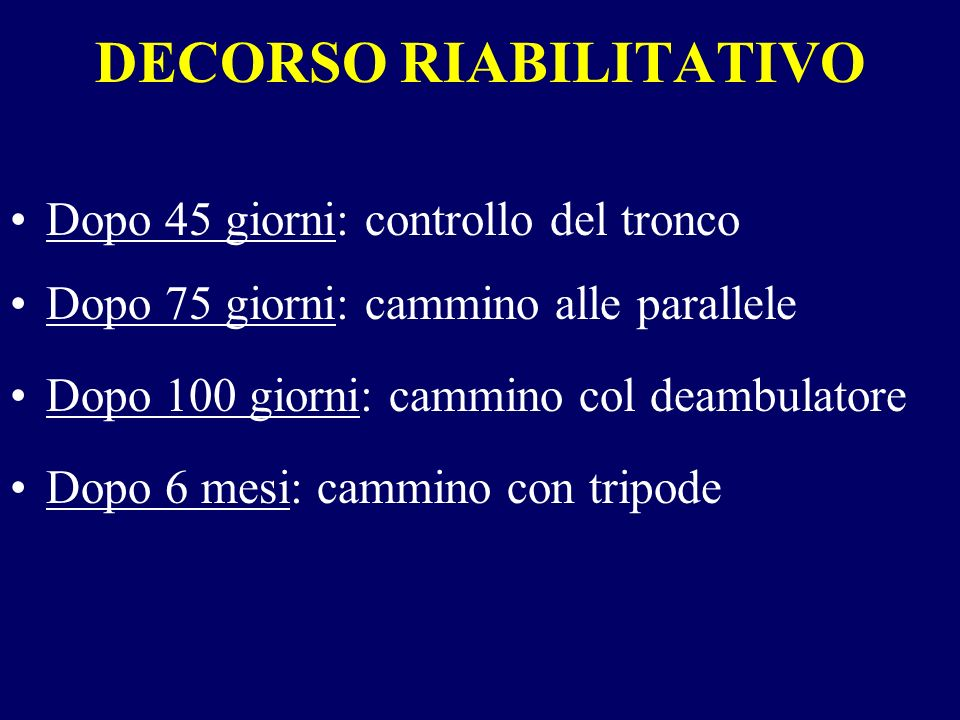 DECORSO RIABILITATIVO