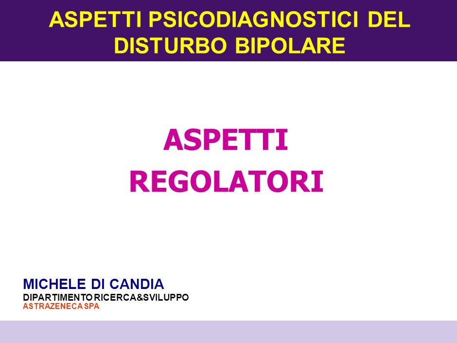 ASPETTI PSICODIAGNOSTICI DEL DISTURBO BIPOLARE