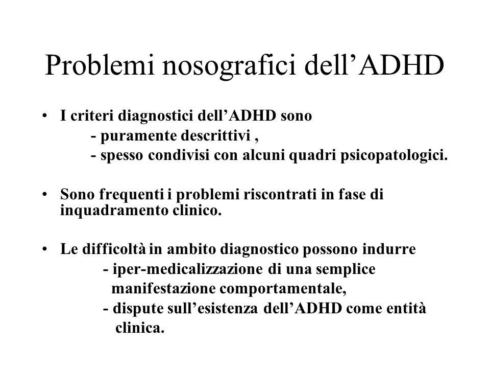 Problemi nosografici dell'ADHD