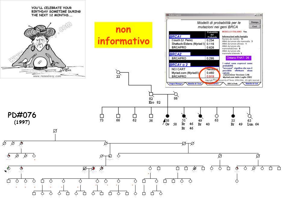 non informativo PD#076 (1997) . . . . . . . . . . . .