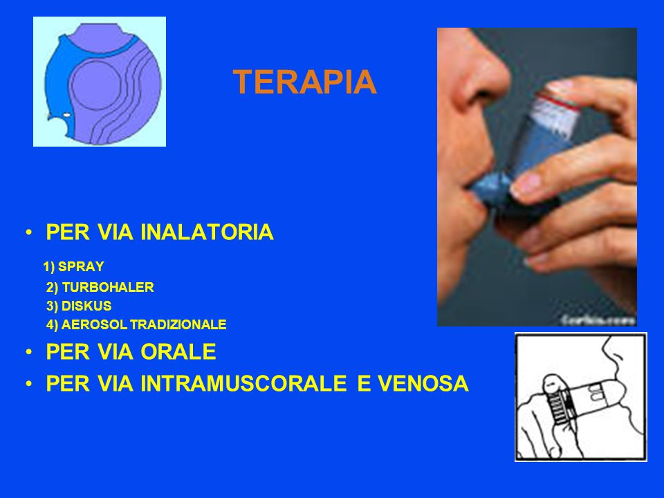 TERAPIA PER VIA INALATORIA 1) SPRAY PER VIA ORALE