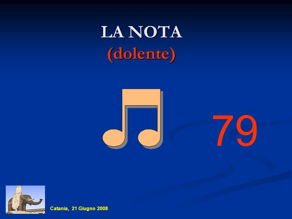 LA NOTA (dolente) 79 Catania, 21 Giugno 2008