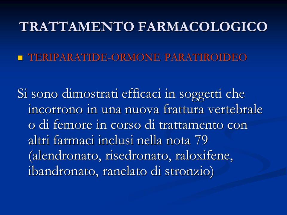 TRATTAMENTO FARMACOLOGICO