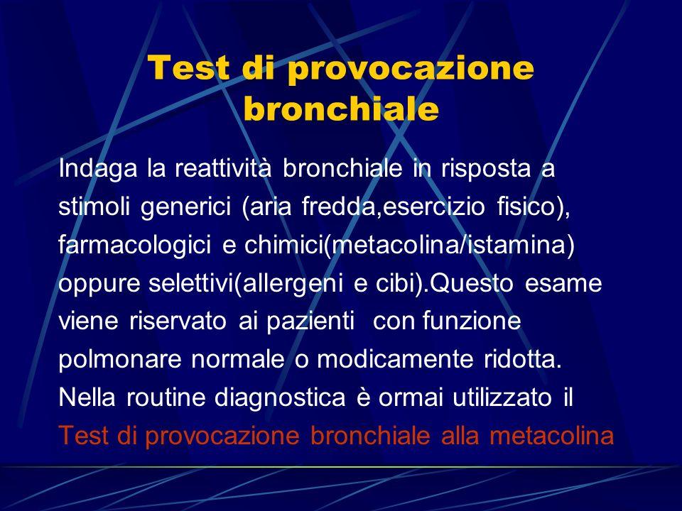 Test di provocazione bronchiale