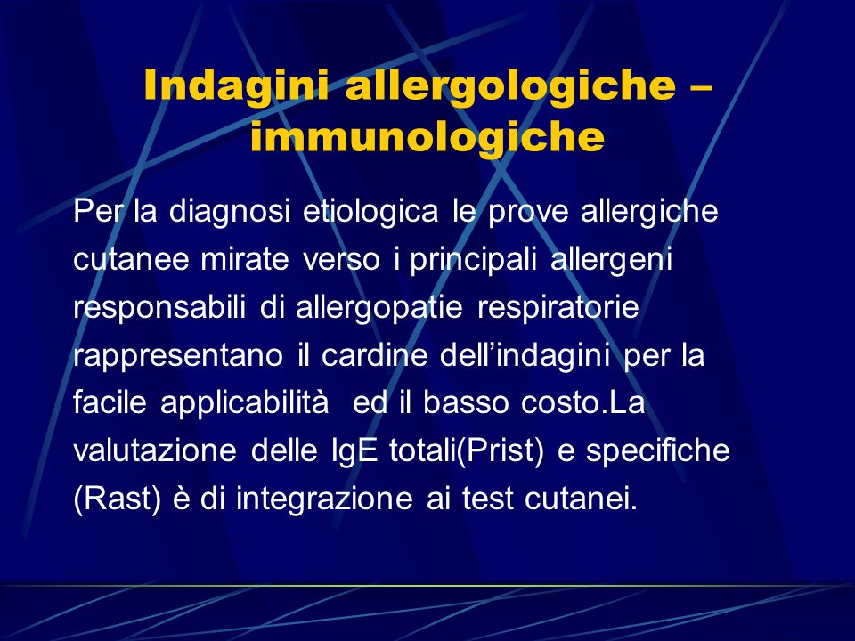 Indagini allergologiche – immunologiche