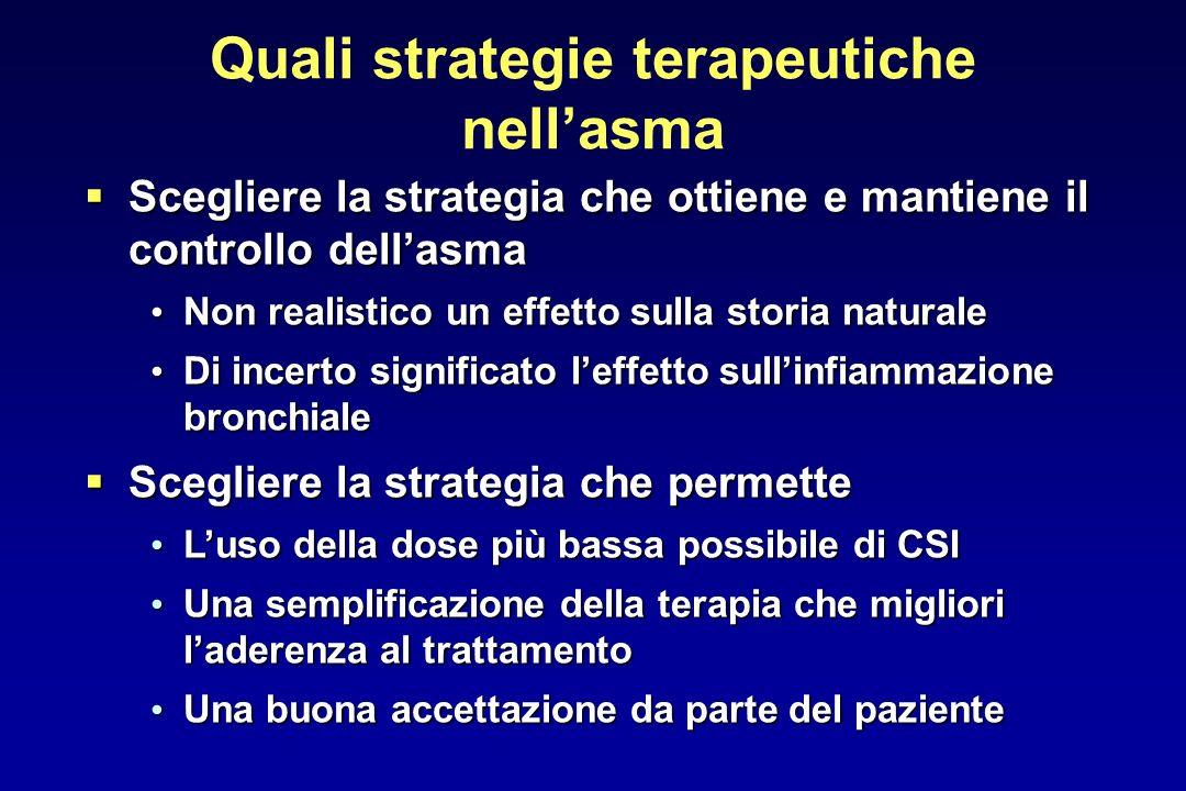 Quali strategie terapeutiche nell'asma