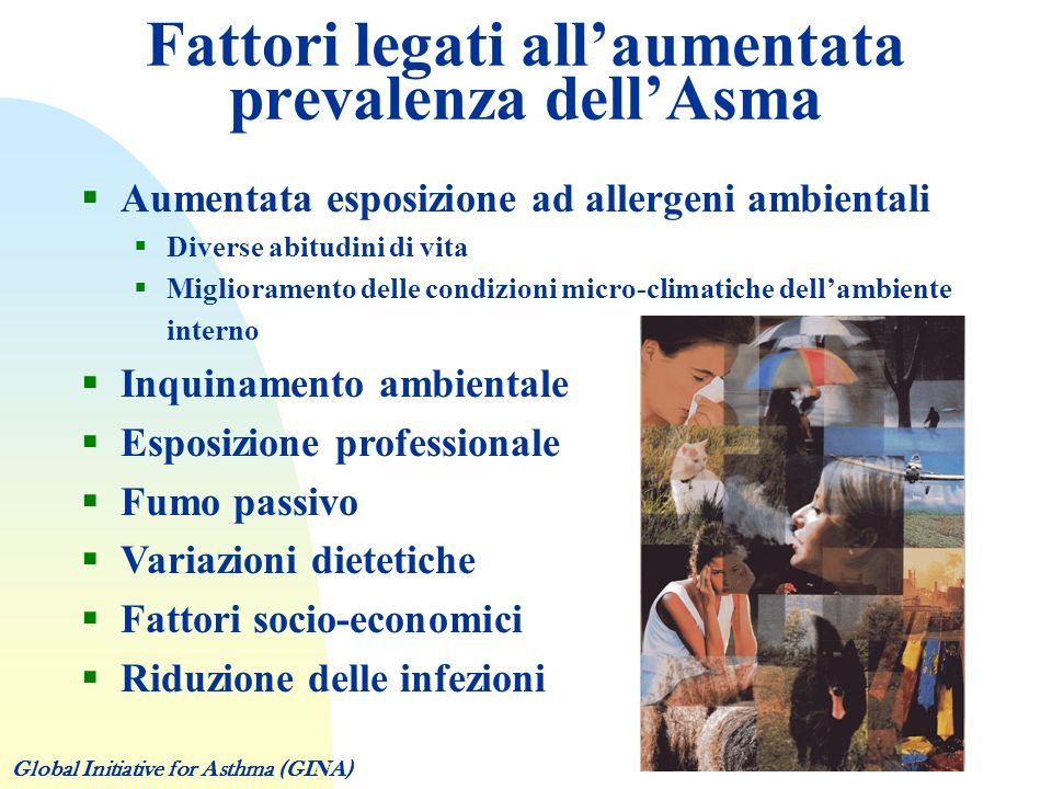 Fattori legati all'aumentata prevalenza dell'Asma