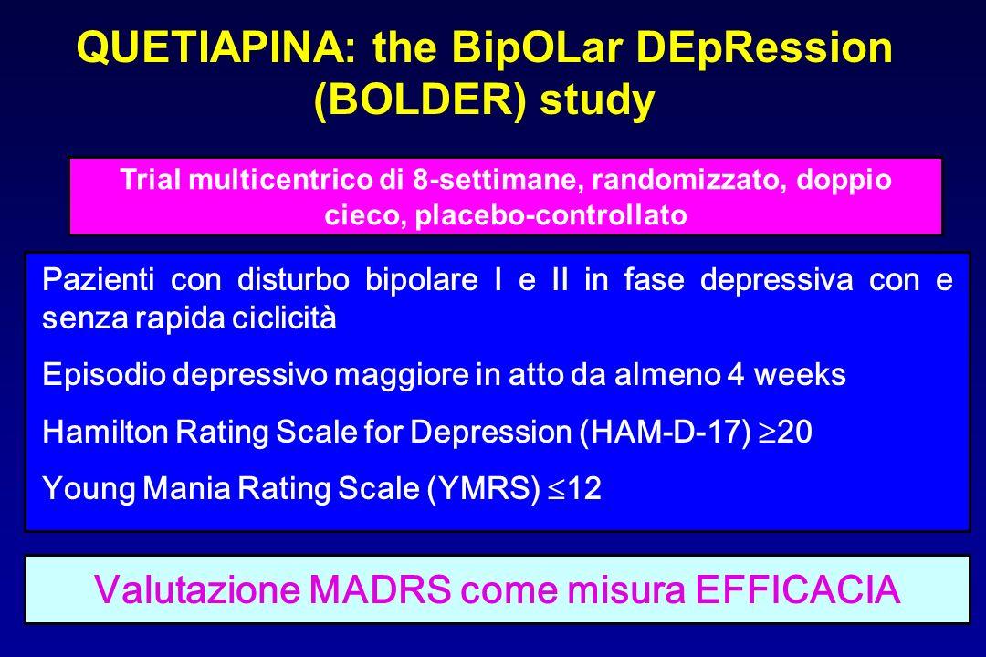 QUETIAPINA: the BipOLar DEpRession (BOLDER) study