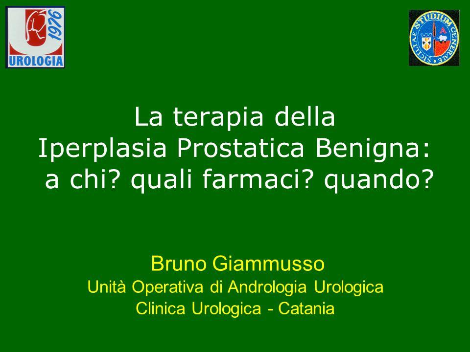 La terapia della Iperplasia Prostatica Benigna: a chi. quali farmaci