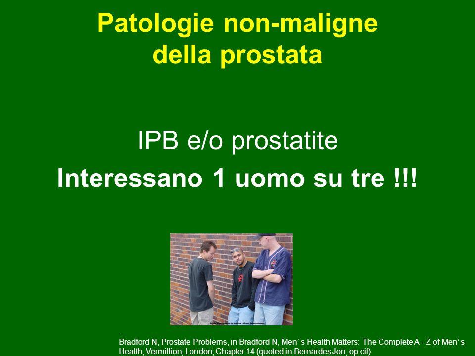 Patologie non-maligne della prostata Interessano 1 uomo su tre !!!