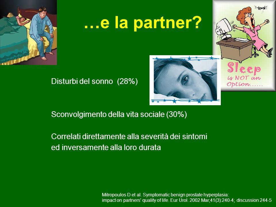 …e la partner Disturbi del sonno (28%)