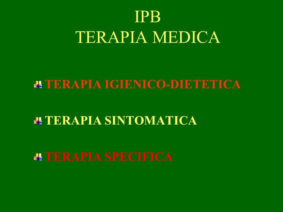 IPB TERAPIA MEDICA TERAPIA IGIENICO-DIETETICA TERAPIA SINTOMATICA