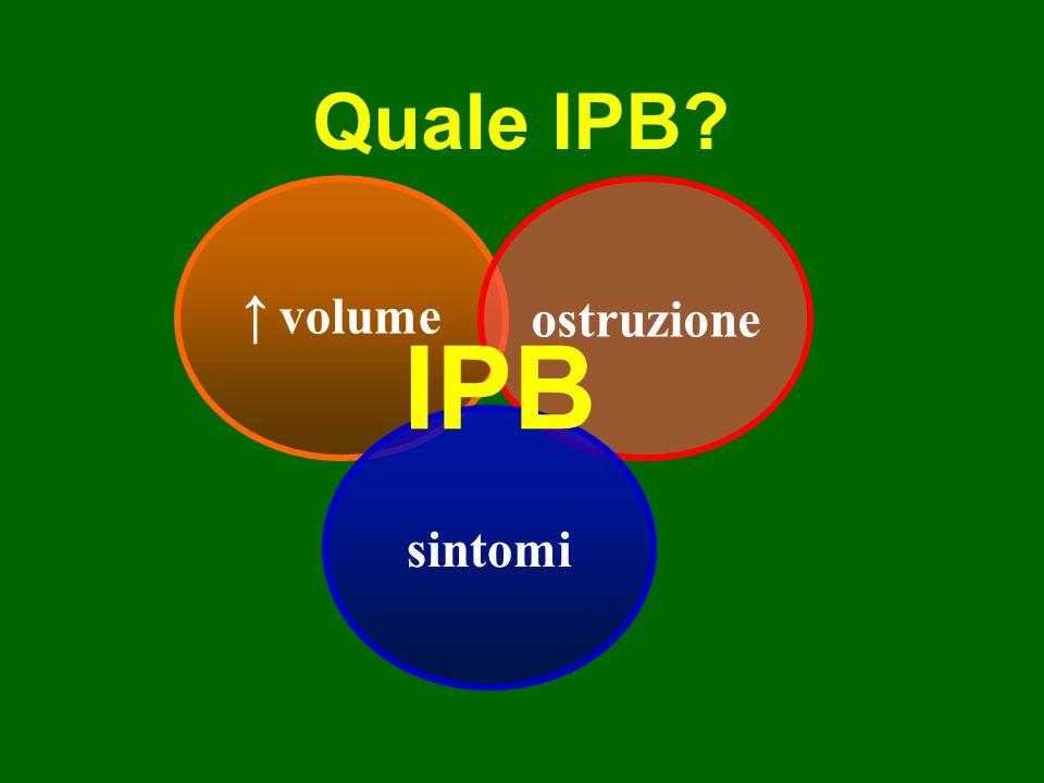 IPB Quale IPB ↑ volume ostruzione sintomi
