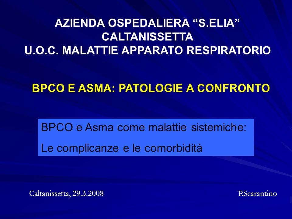 AZIENDA OSPEDALIERA S.ELIA U.O.C. MALATTIE APPARATO RESPIRATORIO