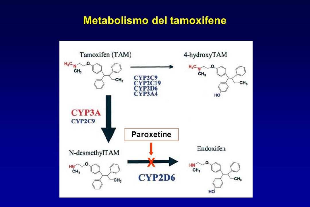 Metabolismo del tamoxifene