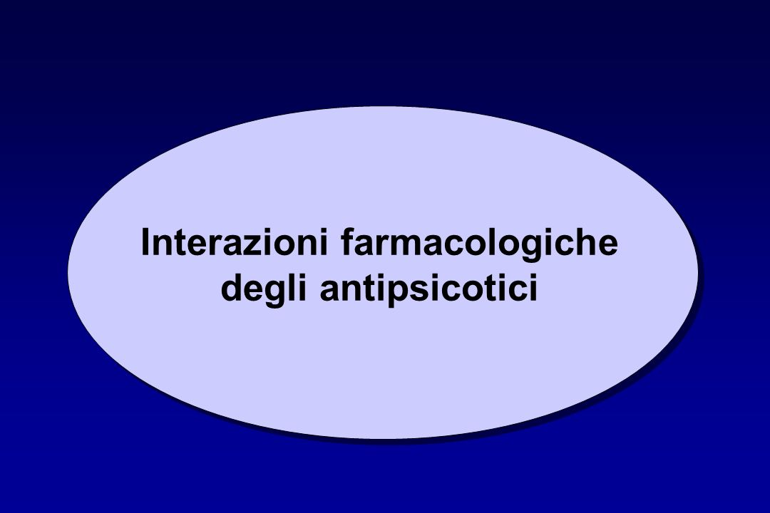 Interazioni farmacologiche degli antipsicotici