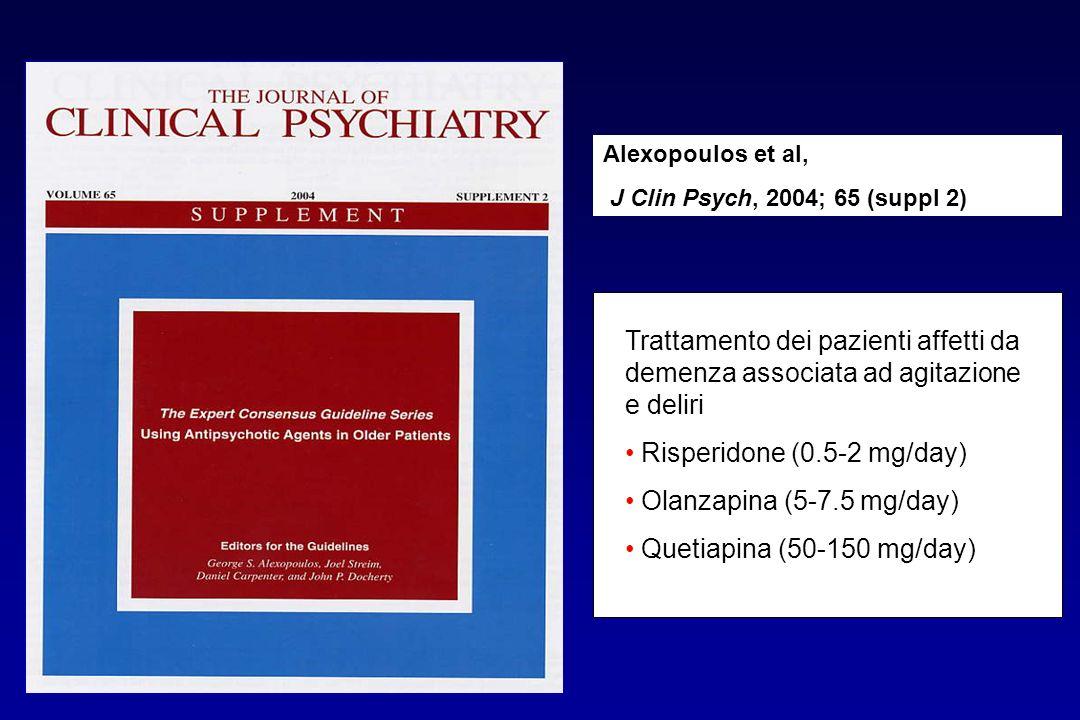 Risperidone (0.5-2 mg/day) Olanzapina (5-7.5 mg/day)