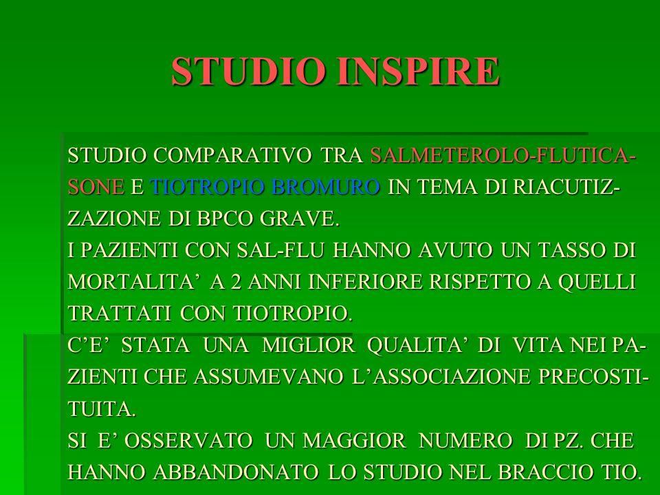 STUDIO INSPIRE STUDIO COMPARATIVO TRA SALMETEROLO-FLUTICA-