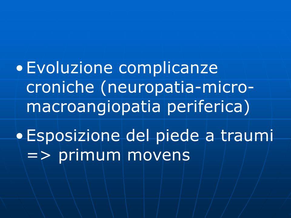 Evoluzione complicanze croniche (neuropatia-micro-macroangiopatia periferica)