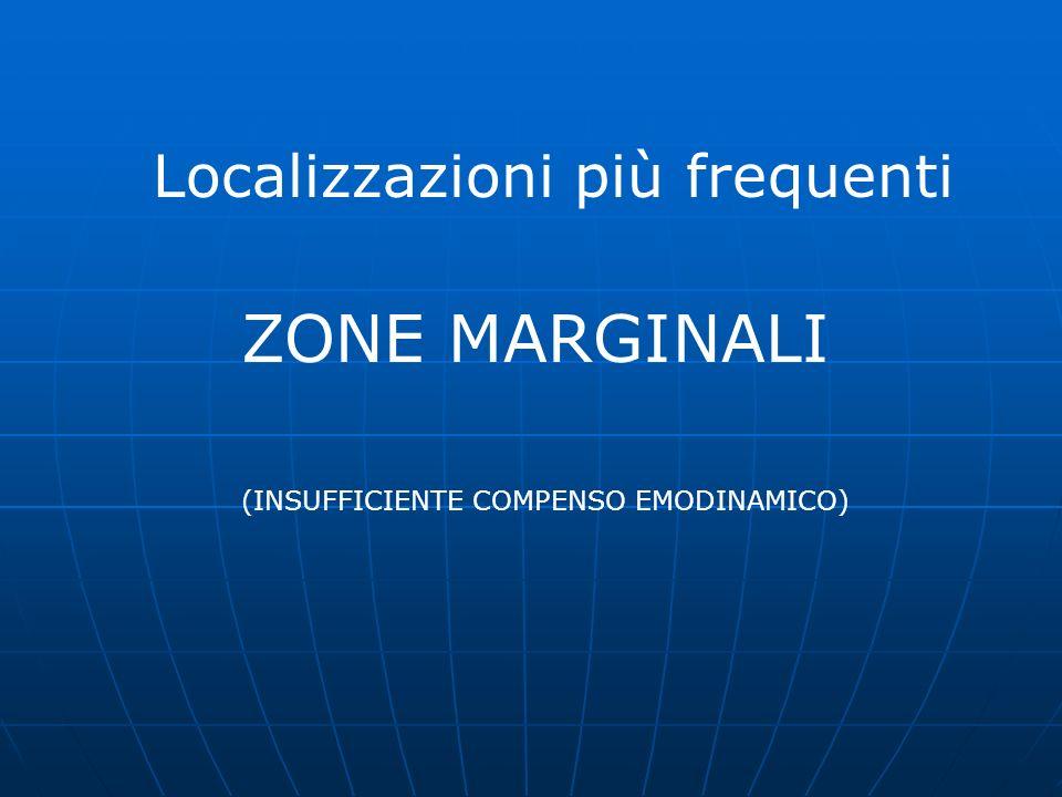 ZONE MARGINALI Localizzazioni più frequenti