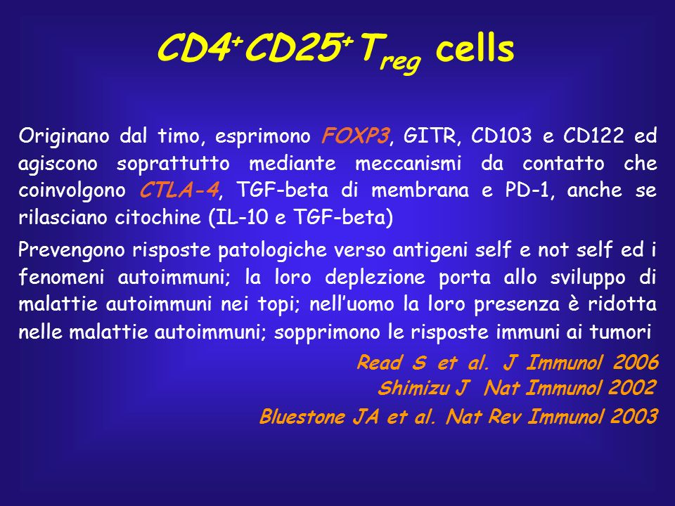 CD4+CD25+Treg cells