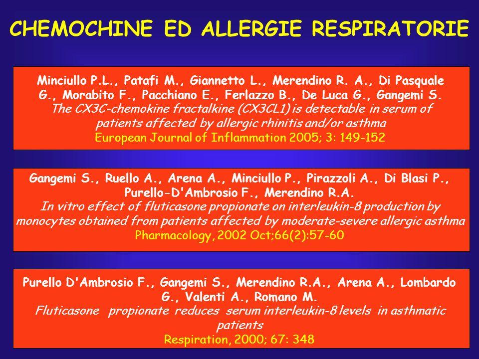 CHEMOCHINE ED ALLERGIE RESPIRATORIE