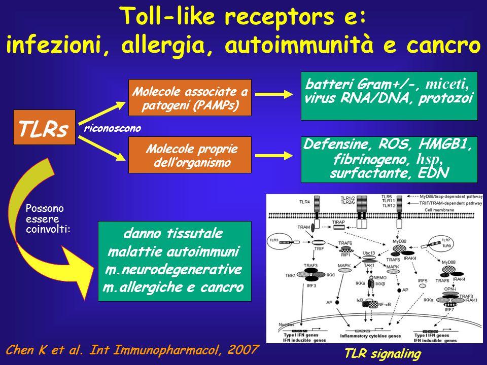 Toll-like receptors e: infezioni, allergia, autoimmunità e cancro