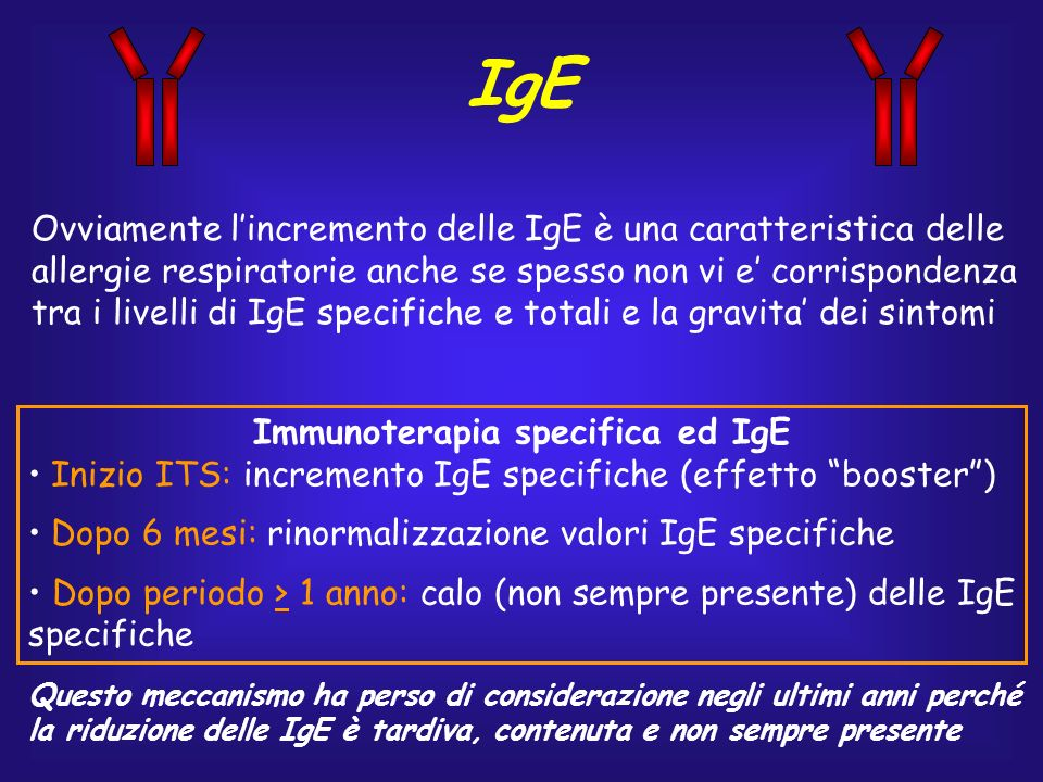 Immunoterapia specifica ed IgE