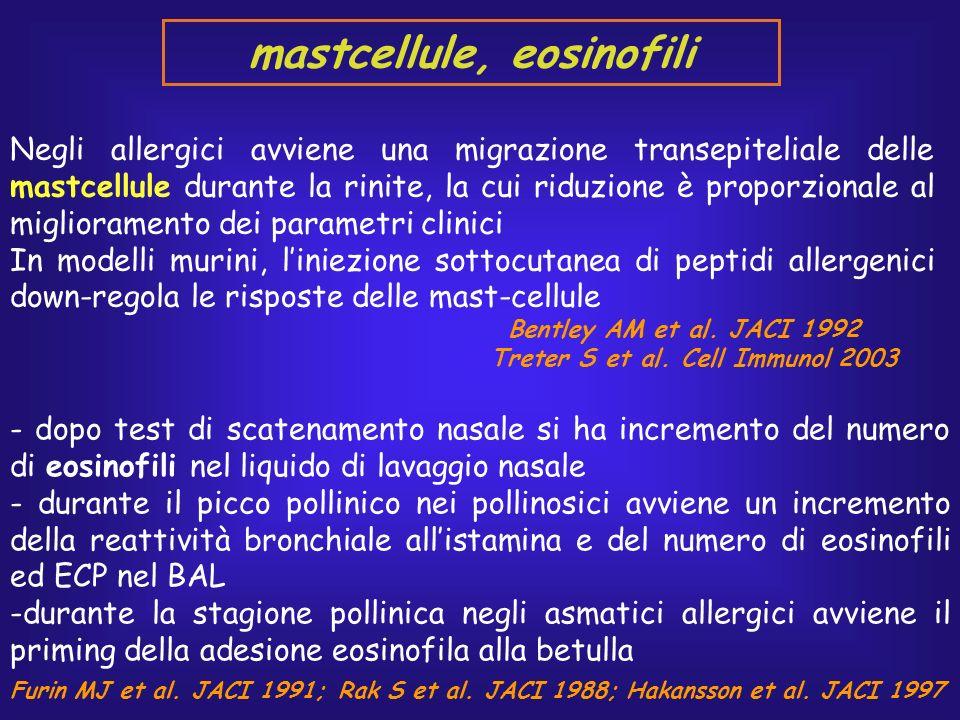 mastcellule, eosinofili