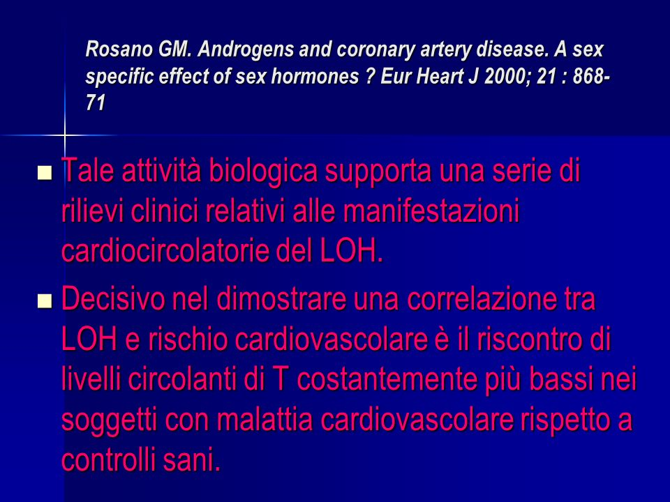 Rosano GM. Androgens and coronary artery disease