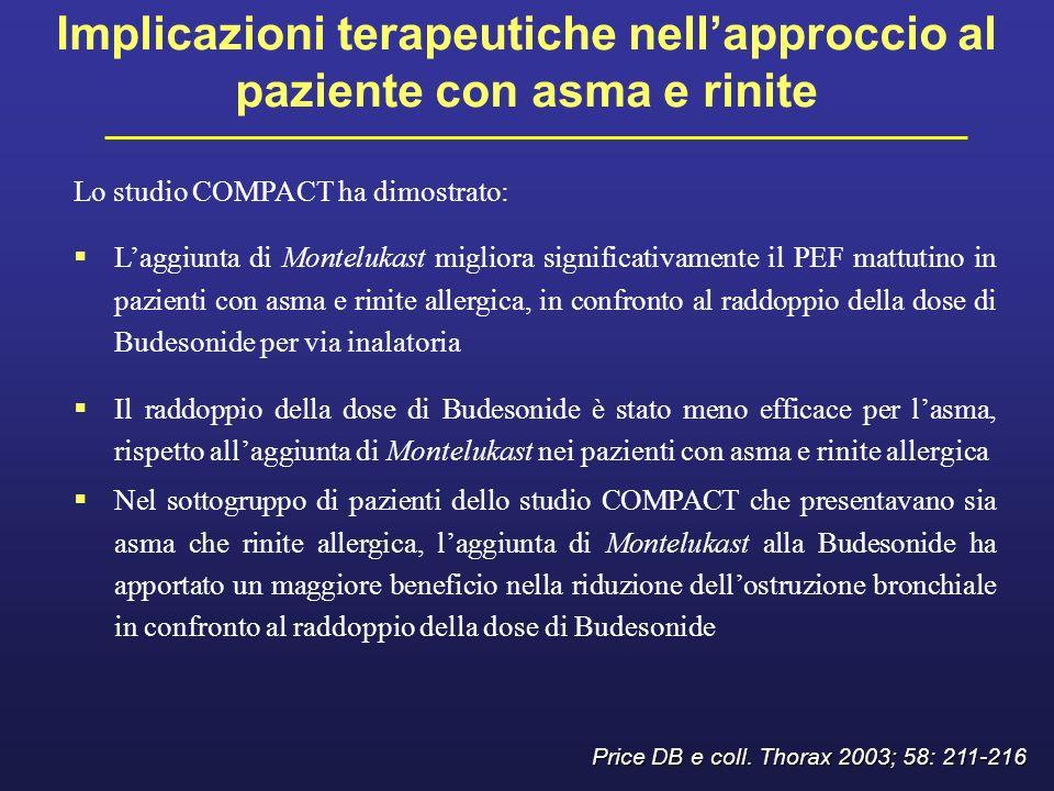Implicazioni terapeutiche nell'approccio al paziente con asma e rinite