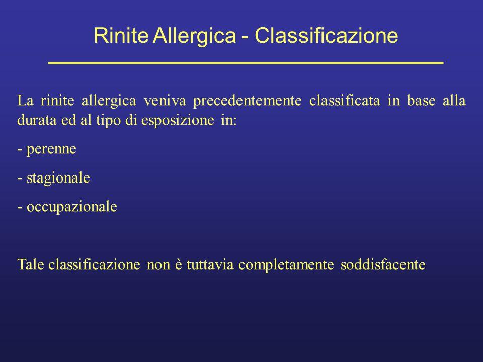 Rinite Allergica - Classificazione