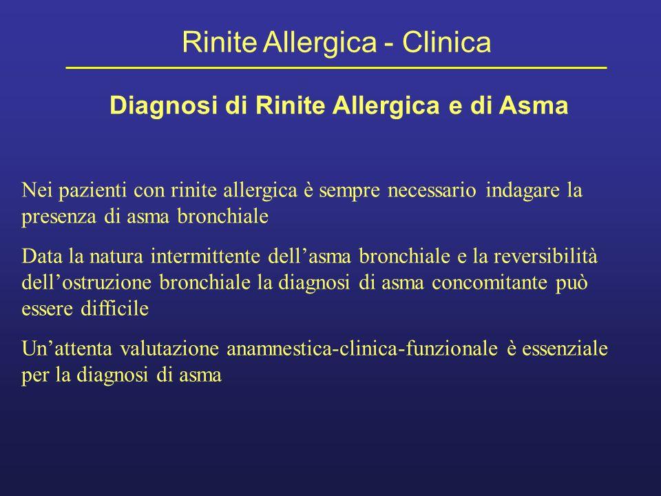 Diagnosi di Rinite Allergica e di Asma