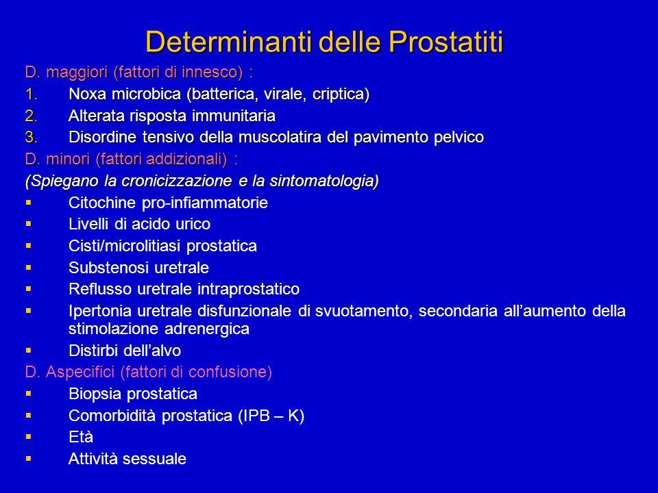 Determinanti delle Prostatiti