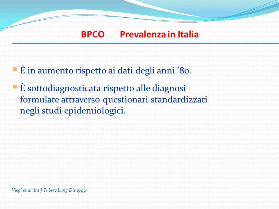 BPCO Prevalenza in Italia