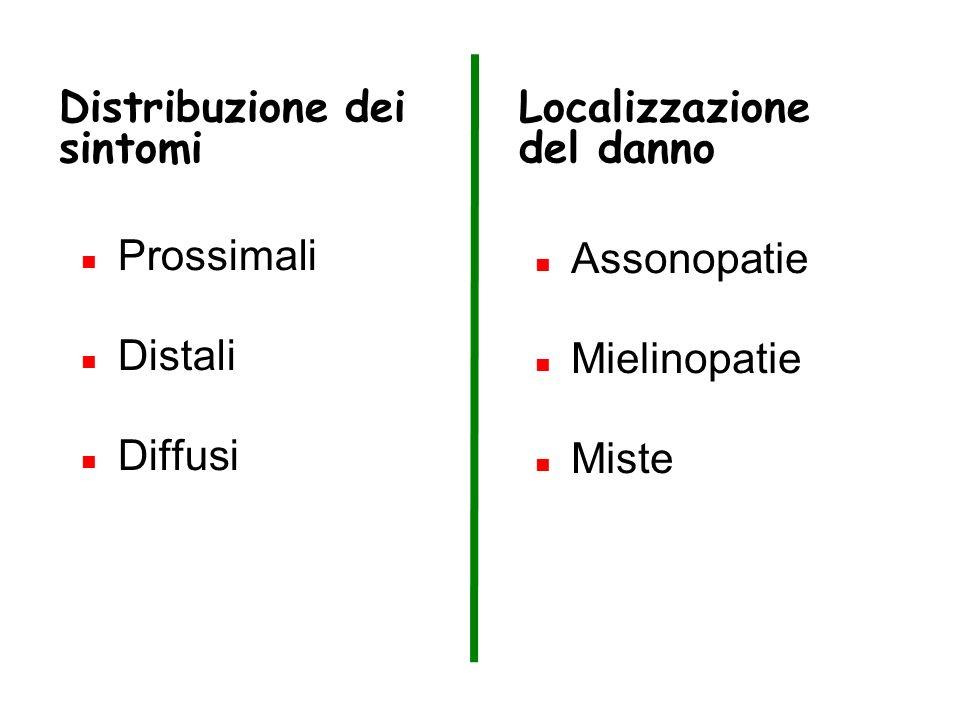 Distribuzione dei sintomi
