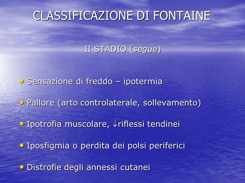 CLASSIFICAZIONE DI FONTAINE