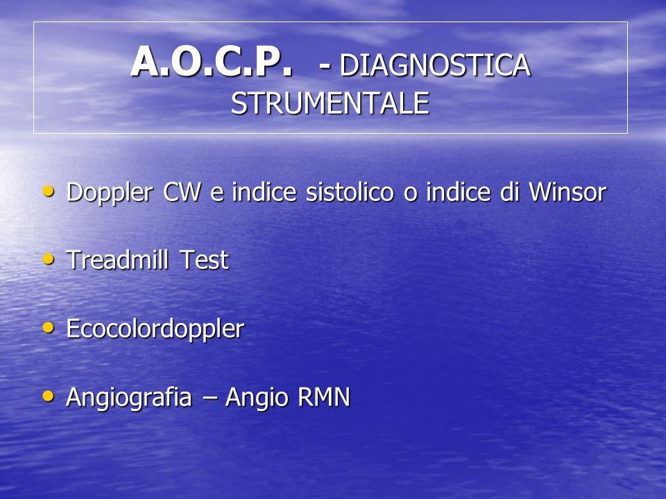 A.O.C.P. - DIAGNOSTICA STRUMENTALE