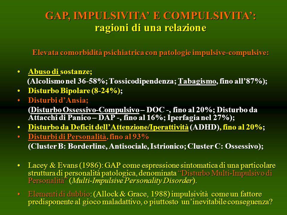 GAP, IMPULSIVITA' E COMPULSIVITA': ragioni di una relazione