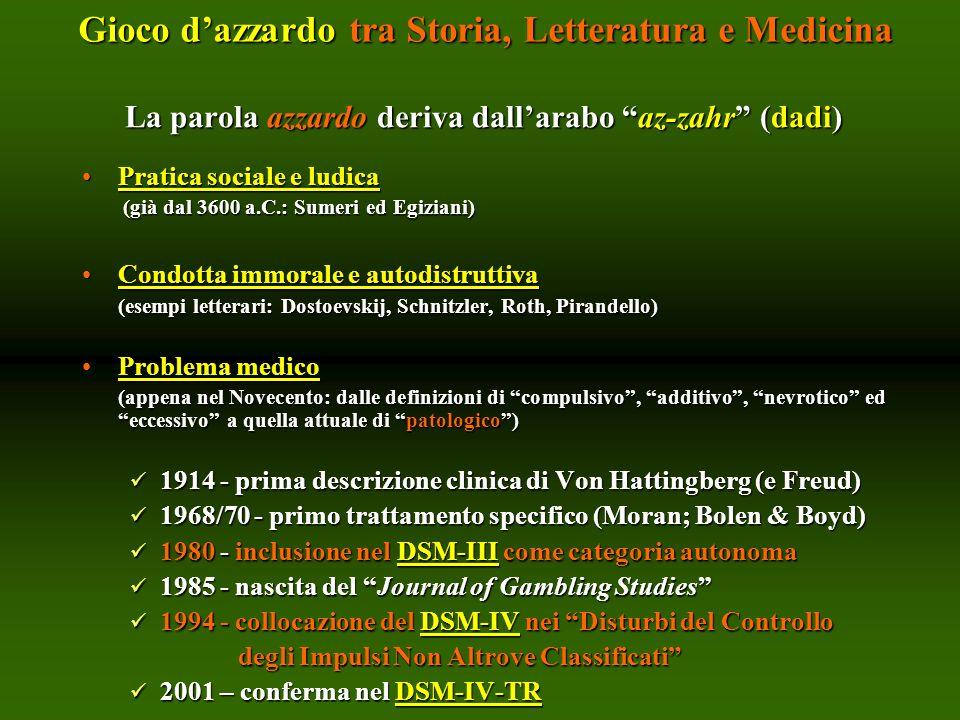 La parola azzardo deriva dall'arabo az-zahr (dadi)