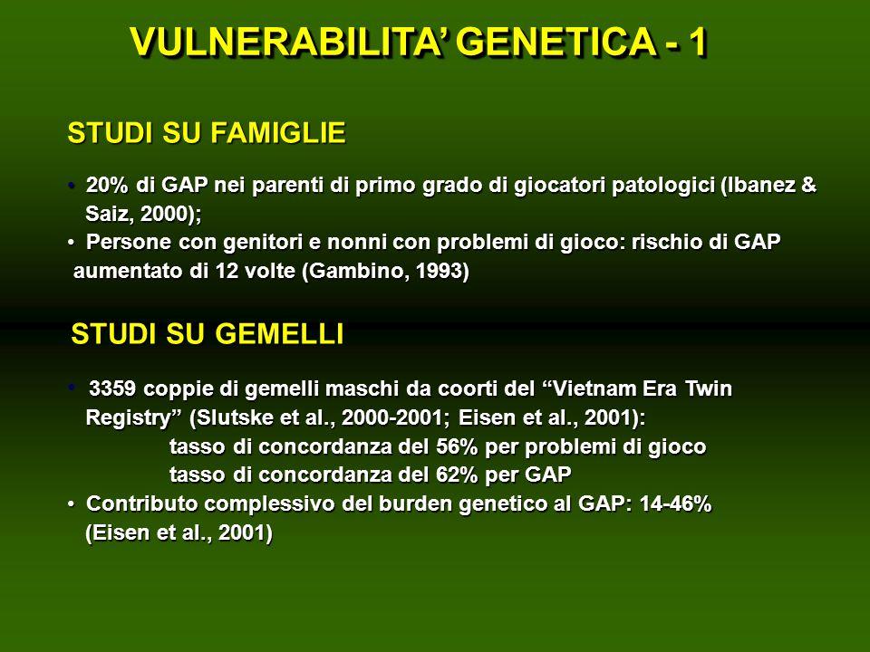 VULNERABILITA' GENETICA - 1