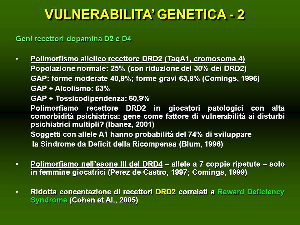 VULNERABILITA' GENETICA - 2