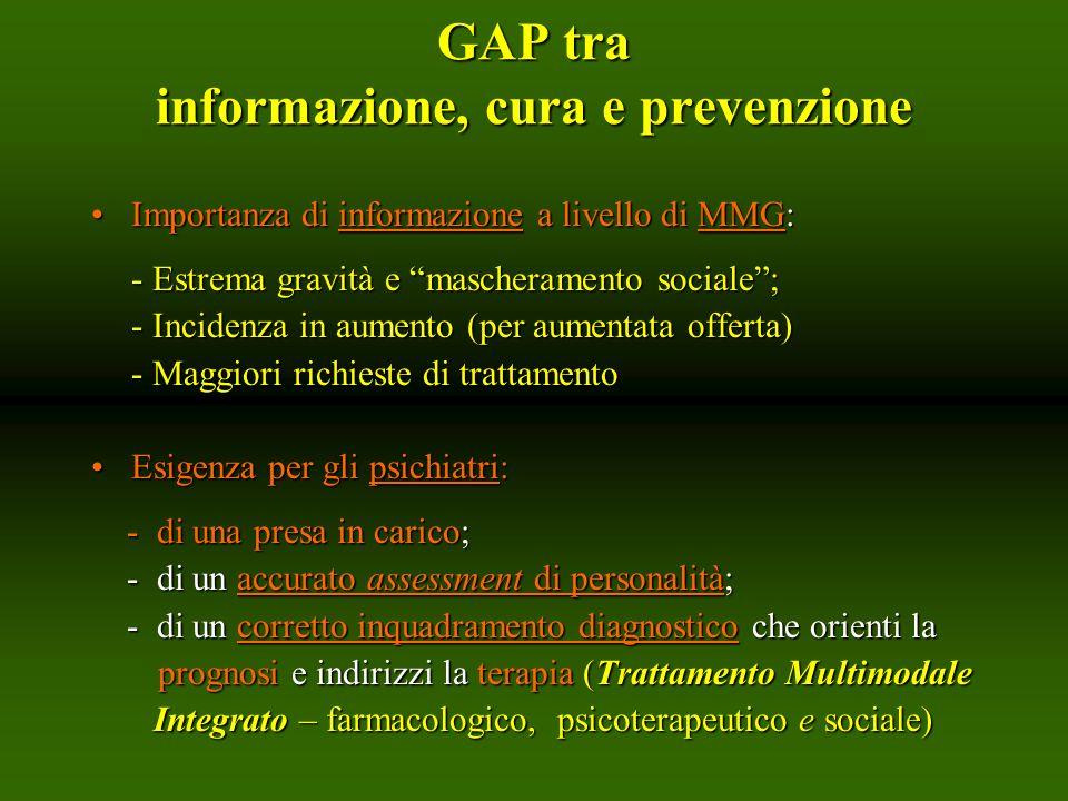 GAP tra informazione, cura e prevenzione