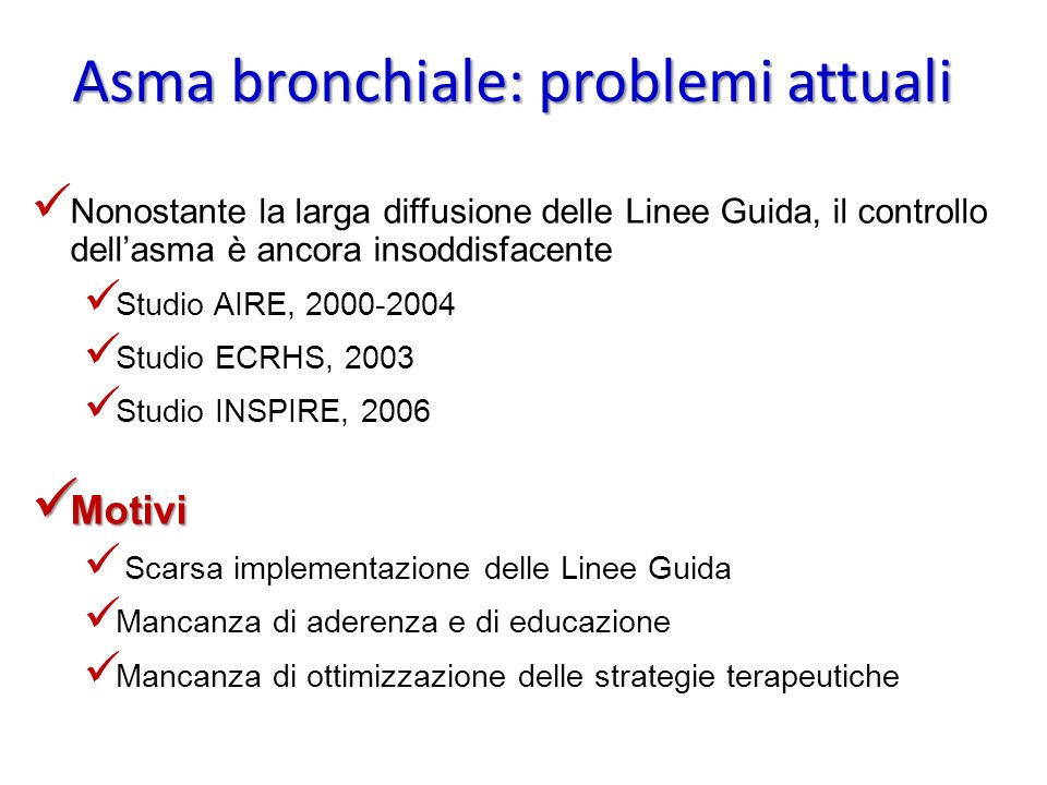 Asma bronchiale: problemi attuali
