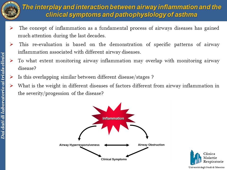 The interplay and interaction between airway inflammation and the clinical symptoms and pathophysIology of asthma