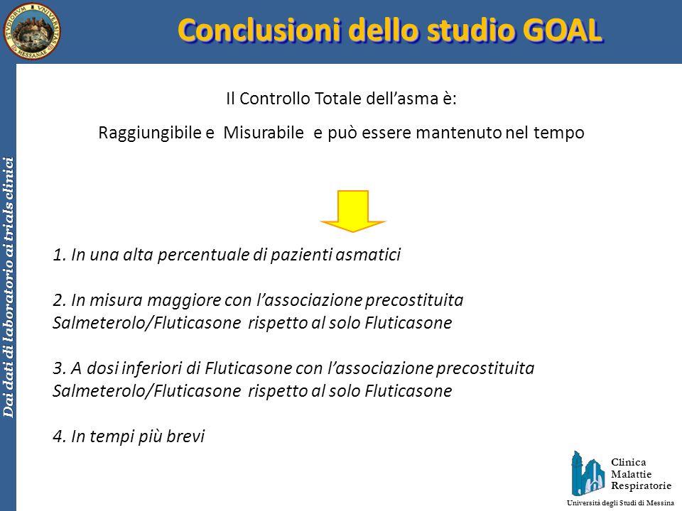 Conclusioni dello studio GOAL